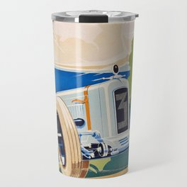 French Vintage Grand Prix poster Travel Mug
