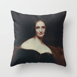 Mary Shelley Throw Pillow