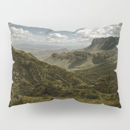 Cloudy Vibrant Mountaintop View in Big Bend - Lost Mine Trail Pillow Sham