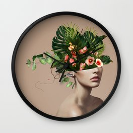 Lady Flowers llll Wall Clock