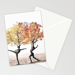 Dancing trees Stationery Cards