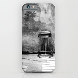 Still life in black and white | Street photography print iPhone Case