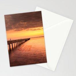 Sunset/Sundusk over harvor. Stationery Cards