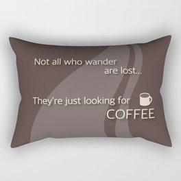 Coffee Wanderlust in Brown Rectangular Pillow