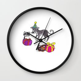 Pet party Wall Clock