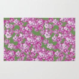 Pink Saxifraga floral Rug