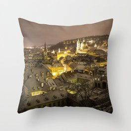 Winter in Prague Throw Pillow