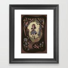 Following Flowers Framed Art Print