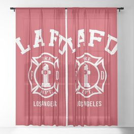 LA Firefighters Sheer Curtain