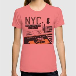 NYC Basic Tips and Etiquette Cover Design - Officially Licensed by Nathan W. Pyle T-shirt