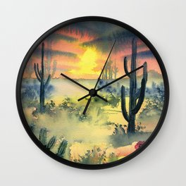 Desert Twilight Wall Clock