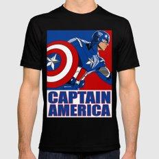 Captain 'merica Mens Fitted Tee Black MEDIUM