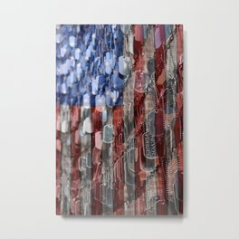 Never Forget American Sacrifice Metal Print