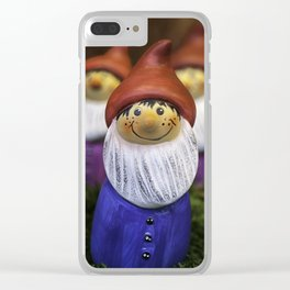 Christmas Gnomes Clear iPhone Case