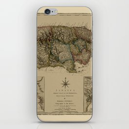 Map Of Jamaica 1775 iPhone Skin