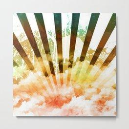Rainbow rising sun Metal Print