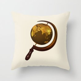 Workers of the Globe Throw Pillow