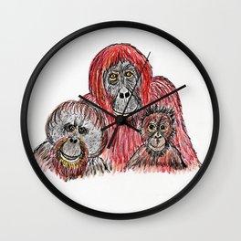 Orangutans Wall Clock