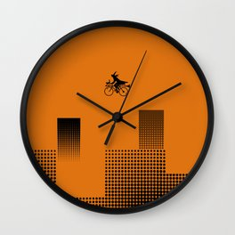 Witch on a Bicycle Wall Clock
