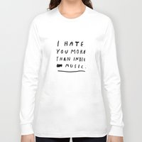 indie Long Sleeve T-shirts featuring INDIE MUSIC by WASTED RITA