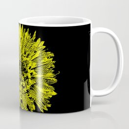 Stamped Wildflower in Yellow and Black Coffee Mug