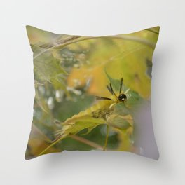 Cute Creeping Caterpillar Throw Pillow
