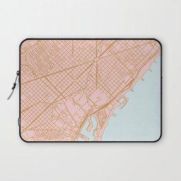 Barcelona map, Spain Laptop Sleeve