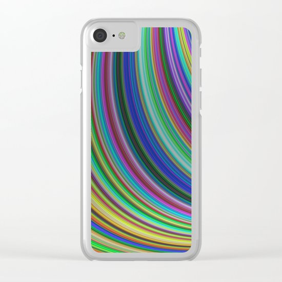 Striped fantasy Clear iPhone Case