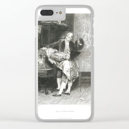 Erotic old print The connoisseur art Giovanni Boldini Clear iPhone Case