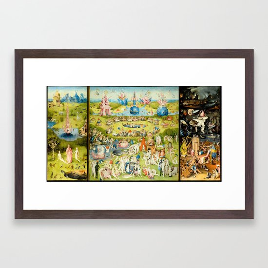 the Garden of Earthly Delights by Bosch Framed Art Print ...Bosch Garden Of Earthly Delights Outside