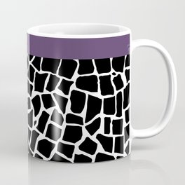 British Mosaic Purple Boarder Coffee Mug