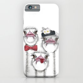 Ostrich family iPhone Case