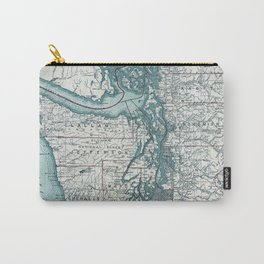 Puget Sound Map Carry-All Pouch