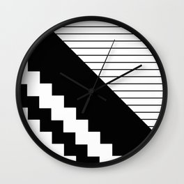 Phases Of Black And White Wall Clock