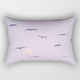 Seagulls & Moon by Murray Bolesta Rectangular Pillow