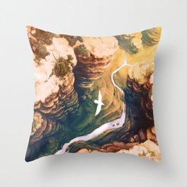 Topaz Canyon Throw Pillow