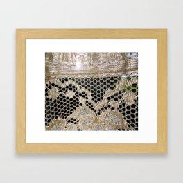 Lace Curtain 3 Framed Art Print