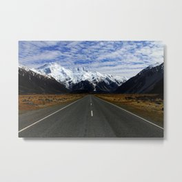 Road to Mount Cook Metal Print
