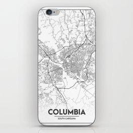 Minimal City Maps - Map Of Columbia, South Carolina, United States iPhone Skin