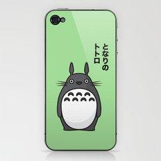 Totoro Pop Art - Green Version iPhone & iPod Skin