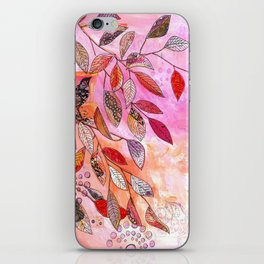 pink branch iPhone Skin