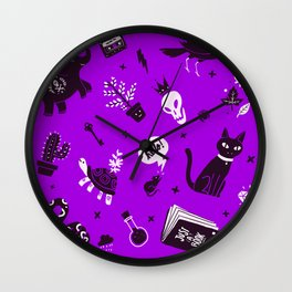 A cat, a skull and other stuff Wall Clock