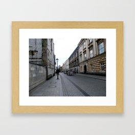 Horse Carriage in Krakow, Poland Framed Art Print