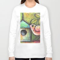 shopping Long Sleeve T-shirts featuring House Shopping by Terri Stegmiller