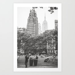 Bryant Park NYC Photography Art Print