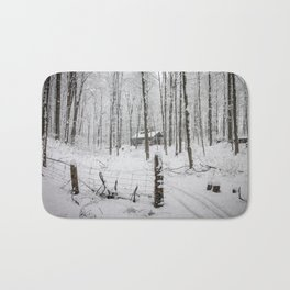 Shack in the Snow Bath Mat