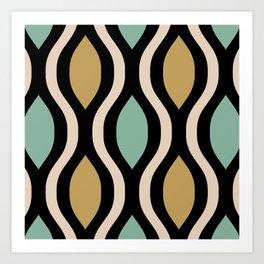 Pretty Ogee Pattern 357 Art Print