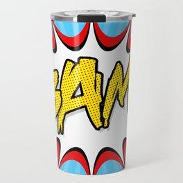 """""""BAM!"""" Pop Art Poster Travel Mug"""