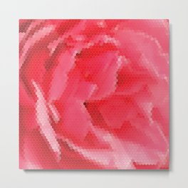 Geometric abstract pattern with flower Metal Print