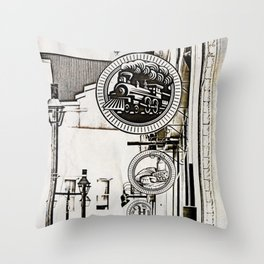 Ye Olde Shoppe Signs Throw Pillow